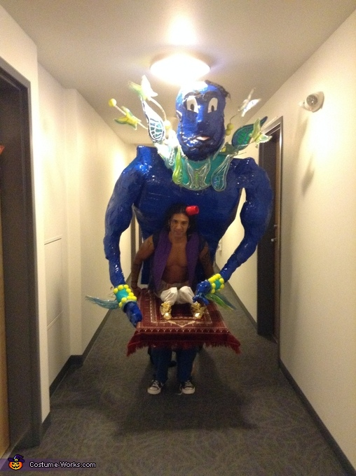 In the halls coming at you, Aladdin & Genie Costume