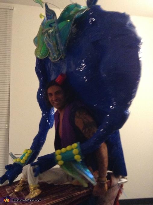 side shot, Aladdin & Genie Costume