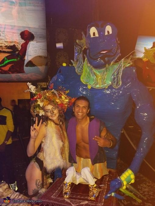 at the club, Aladdin & Genie Costume