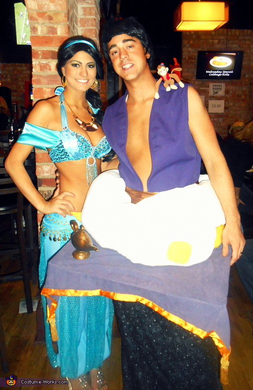 couples halloween costume idea aladdin jasmine aladdin jasmine