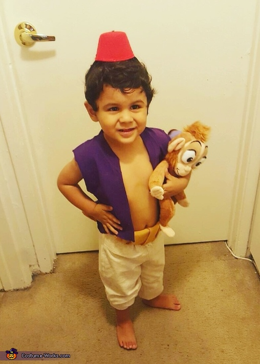 Homemade aladdin toddler costume for Diy halloween costumes for kid boy