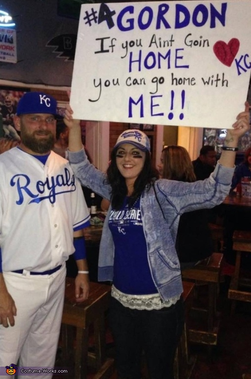 Alex Gordon and Royals Fan Costume