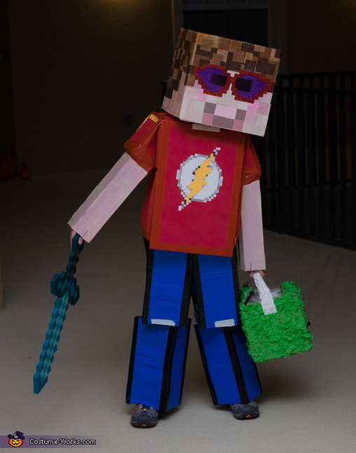Alex in Minecraft Costume
