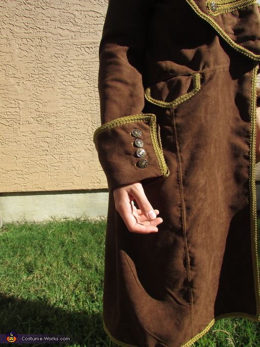 Sleeve Cuff and Side Pocket, Alexander Hamilton Costume