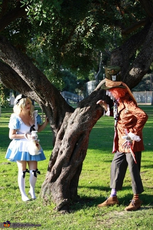 Alice and Mad Hatter Couple Costume