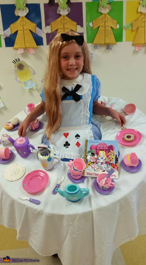 Alice at the Mad Hatters Tea Party Costume