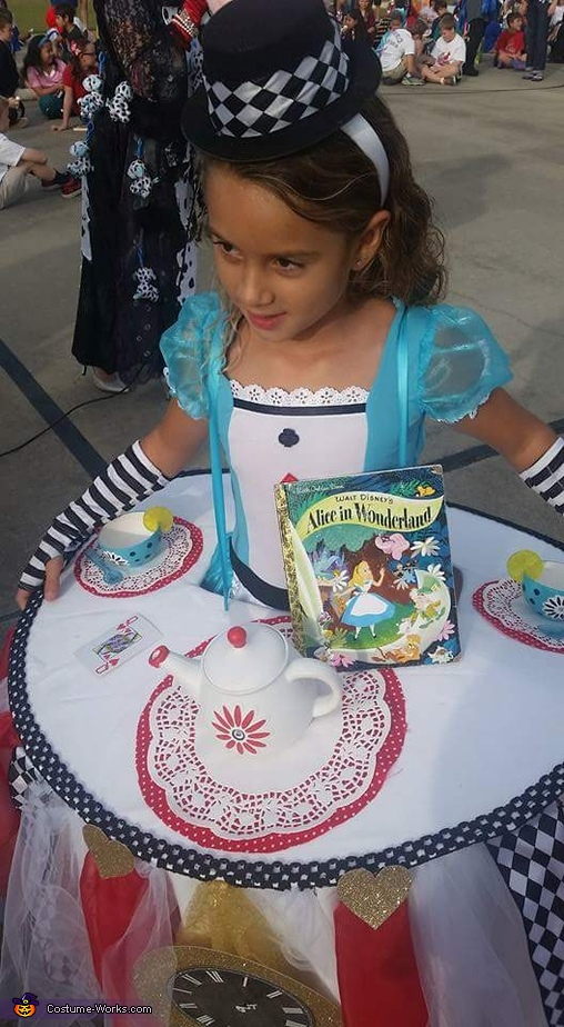 Alice at the Tea Party Homemade Costume