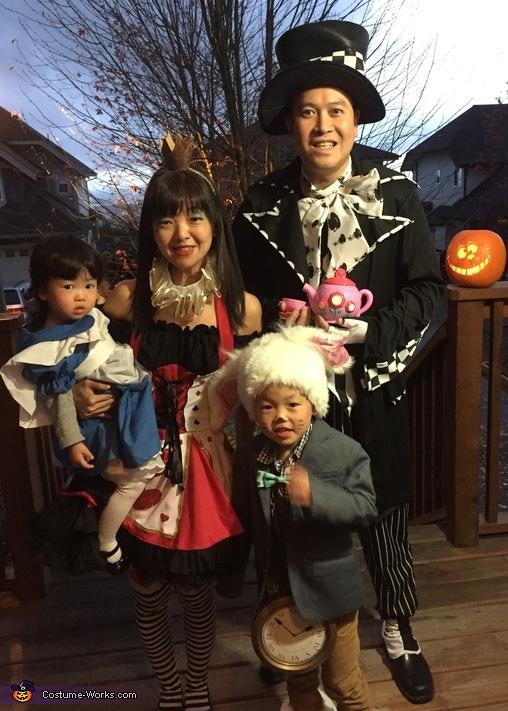 Alice in Wonderland Family Costume
