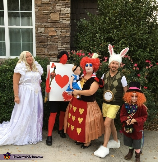 Alice in Wonderland Family Costume