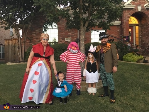 Alice in wonderland,  family favorite, Alice in Wonderland Family Costume