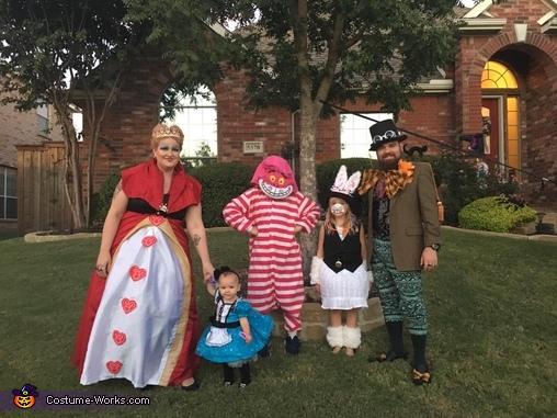 Alice in wonderland,  family favorite, Alice in Wonderland Family Costume