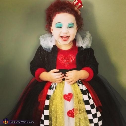 2 year old Queen of Hearts, Alice in Wonderland Costume