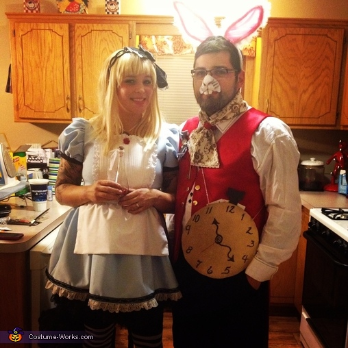 Alice and white rabbit, Alice in Wonderland Group Costume