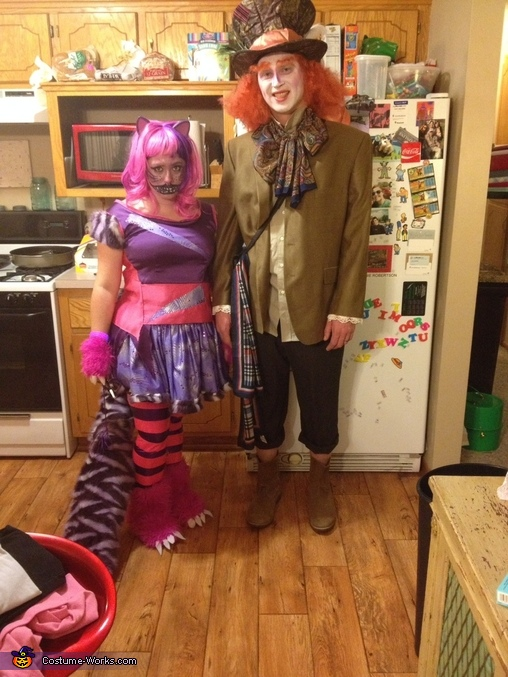 Cheshire and mad hatter, Alice in Wonderland Group Costume