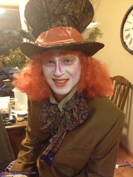 Mad hatter, orange eyebrows too, Alice in Wonderland Group Costume