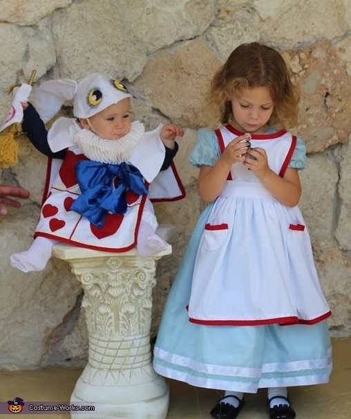 Alice in Wonderland and the White Rabbit Costume
