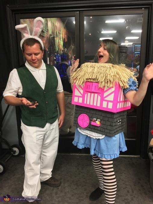 Alice in Wonderland and the White Rabbit Costume