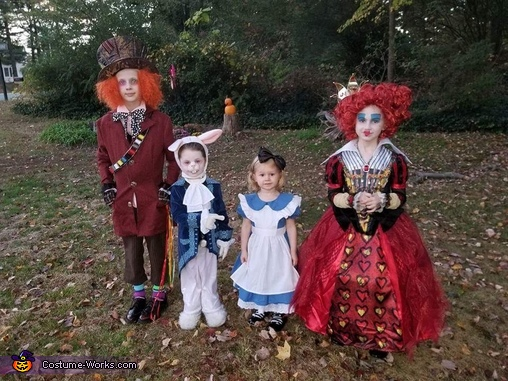 We're all mad here!, Alice in Wonderland Family Costume
