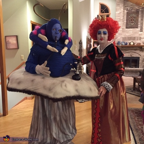 Absolem and Queen of Hearts, Alice in Wonderland Group Costume