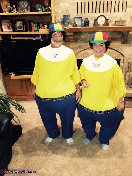 Tweedle Dee and Dum, Alice in Wonderland Costume