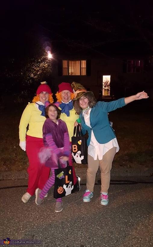 Alice in Wonderland Group Homemade Costume