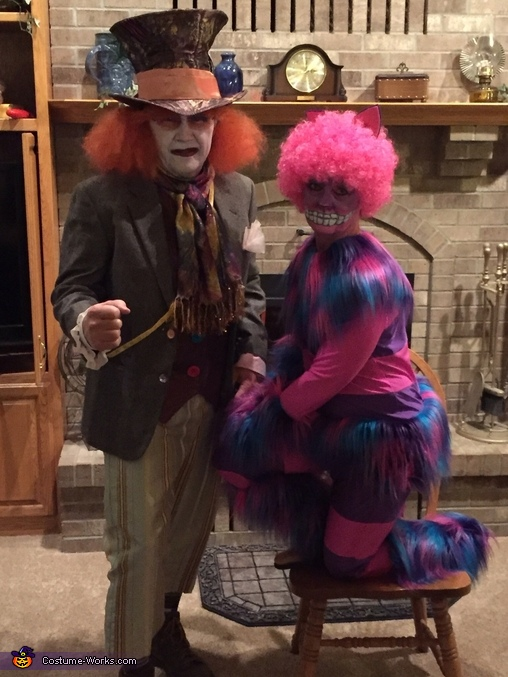 Mad Hatter and Cheshire Cat, Alice in Wonderland Group Costume