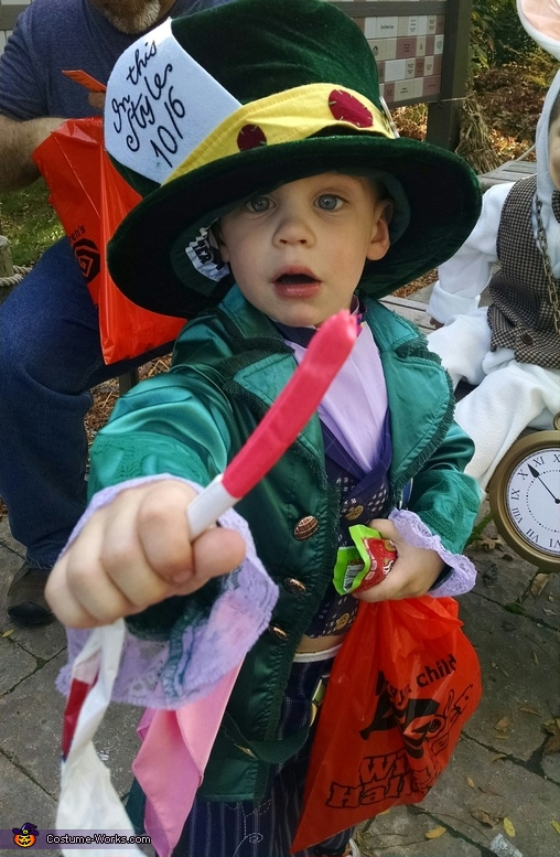 Holden as the Mad Hatter, Alice in Wonderland Costume