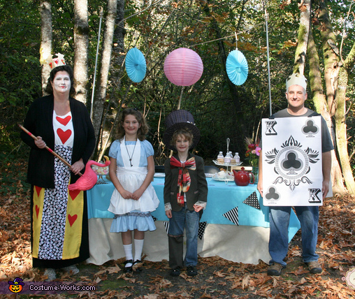 Alice In Wonderland Mad Hatter Tea Party Family Costume