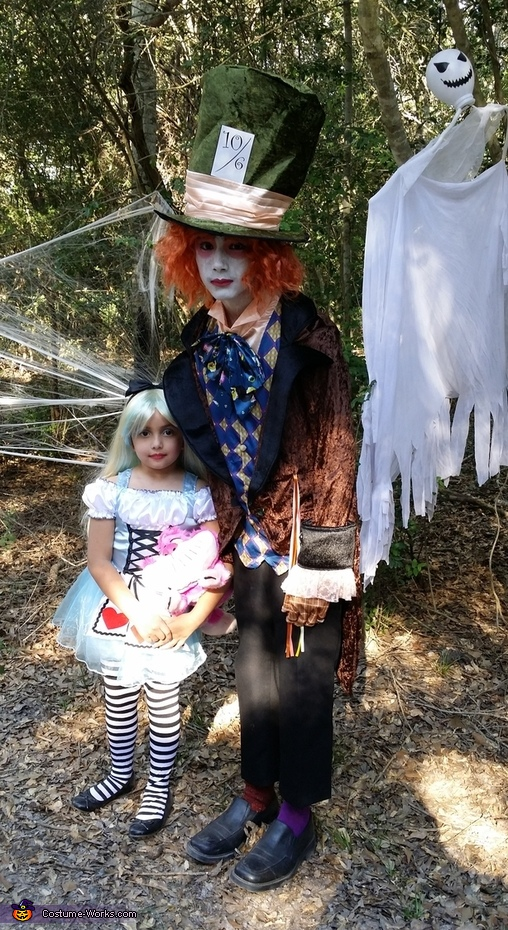 Alice in Wonderland & Mad Hatter Costume
