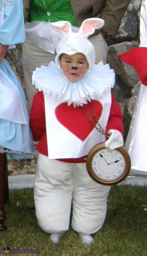 The White Rabbit. Alice in Wonderland - Homemade costumes for families