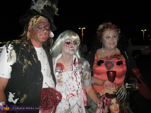 Alice in Wonderland Zombies Group Costume