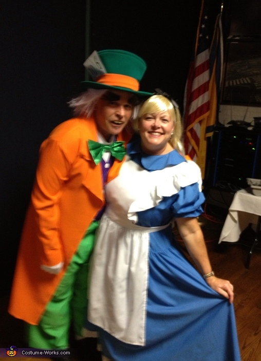Alice & her Mad Hatter Couples Costume