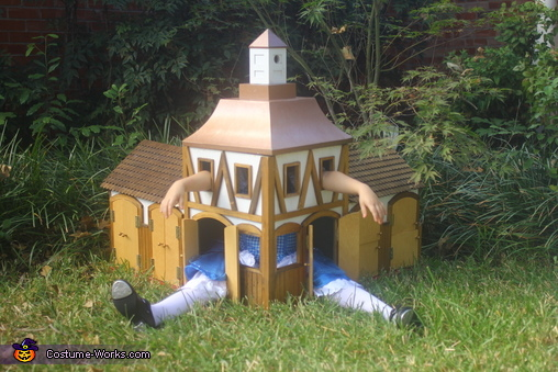 Alice sits in White Rabbit's House., Alice, Stuck in White Rabbit's House Costume