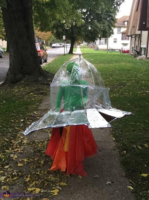 Alien in a Spaceship Costume