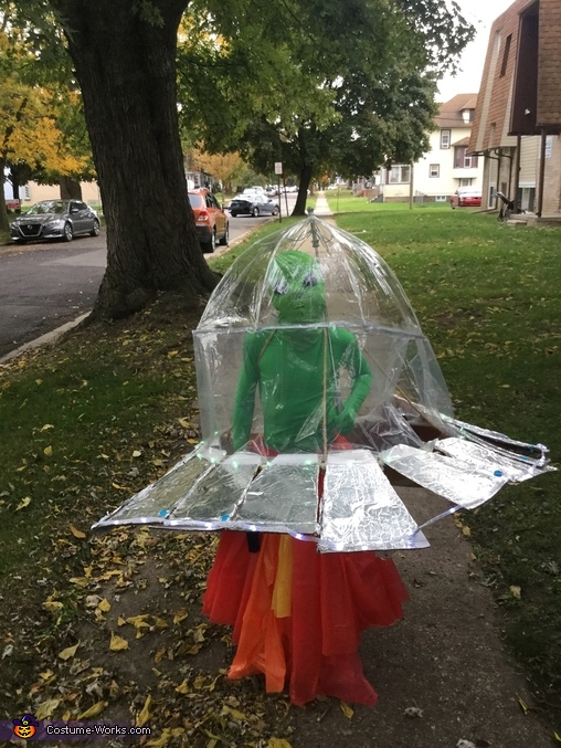 Alien in a Spaceship Homemade Costume