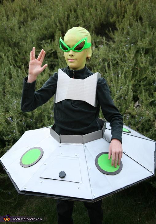 Alien in his Spaceship Costume
