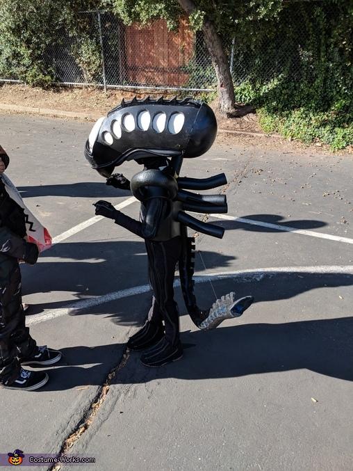 Xenomorph profile in daylight, Alien Xenomorph Costume