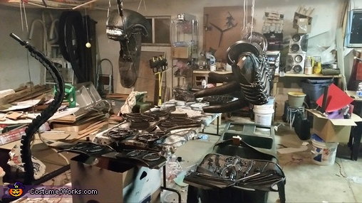 Design and workstation, Alien Xenomorph Costume