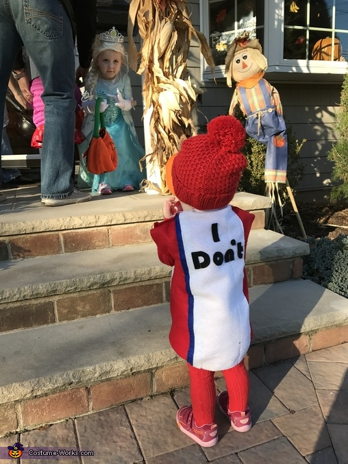 Almond Joy and Mounds Candy Bars Homemade Costume