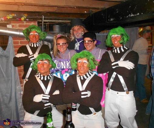 altogether in some basement party, Willy Wonka and Friends Group Costume