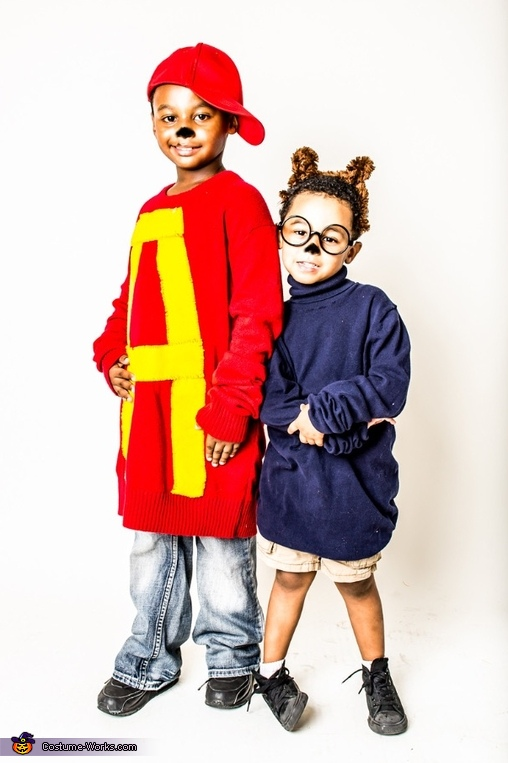 Alvin and Simon Homemade Costume
