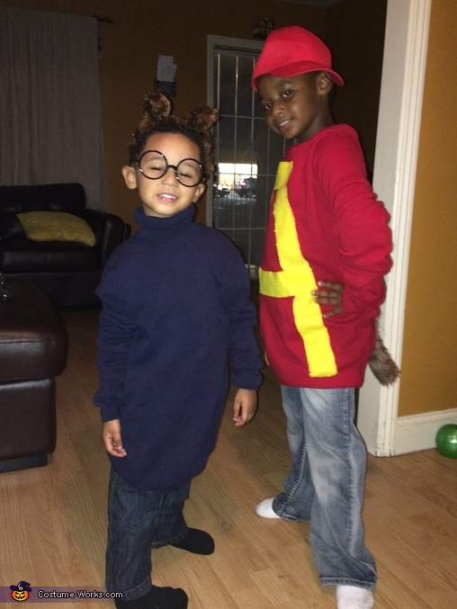 The Chipmunks Alvin and Simon Costume