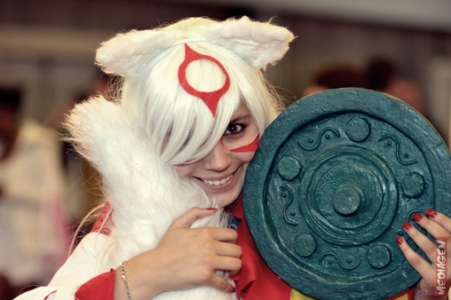 Amaterasu from The Game OKAMI Homemade Costume
