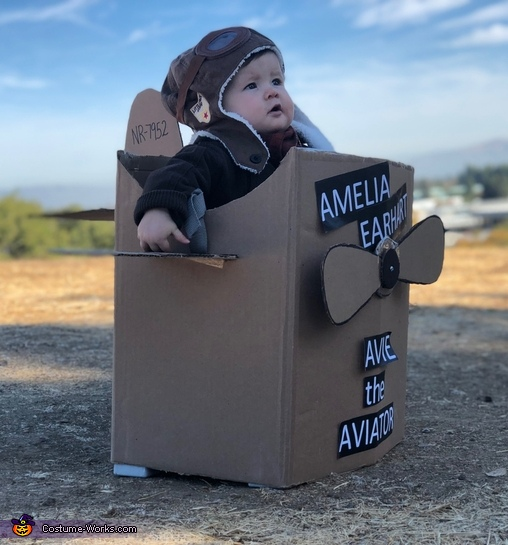Ready for take-off, Amelia Earhart Costume