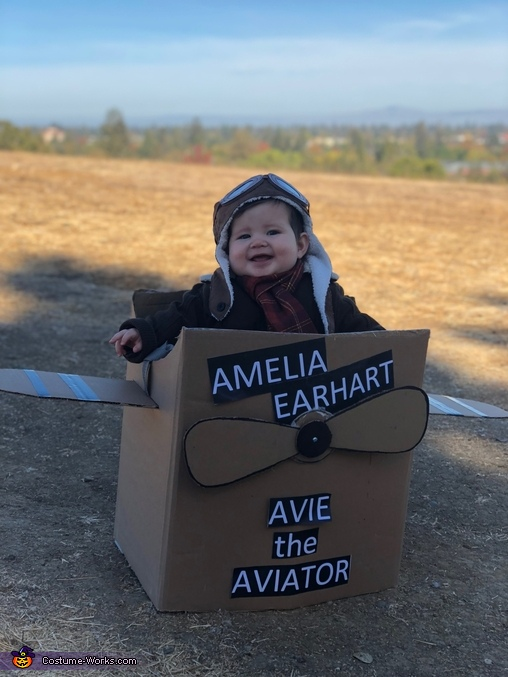 Avie Smiles for Days, Amelia Earhart Costume