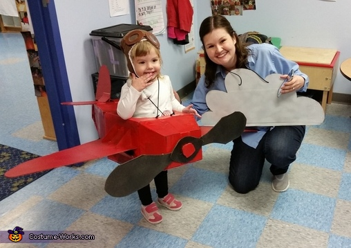 Amelia Earhart Airplane Homemade Costume