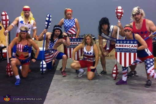 American Gladiators Group Costume