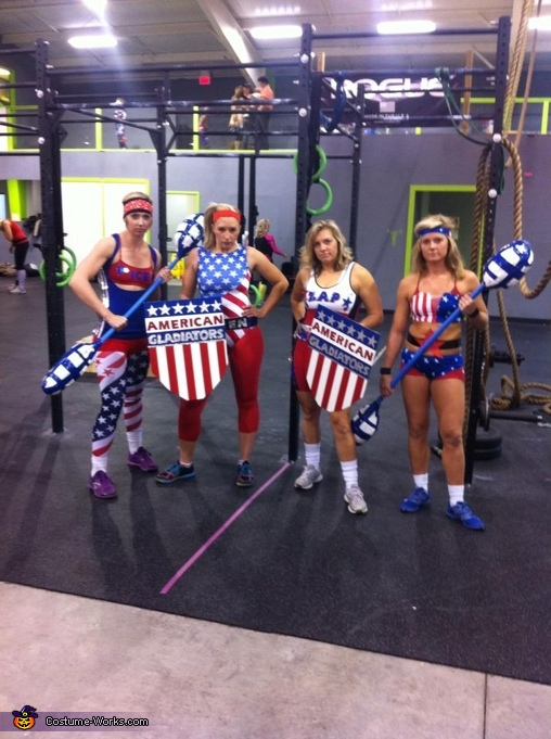 Women American Gladiators, American Gladiators Group Costume
