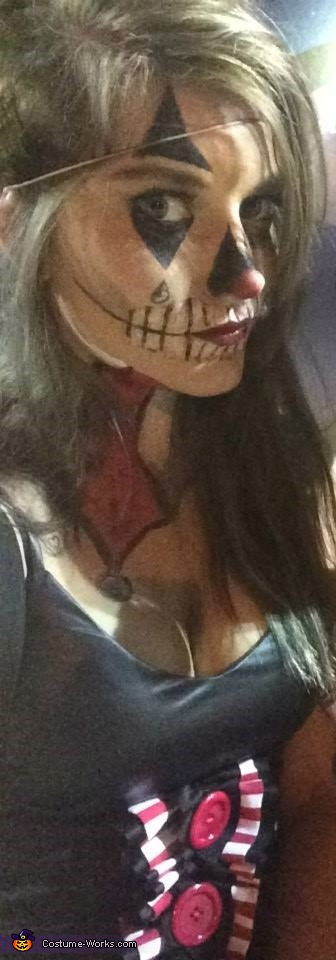American Horror Story Scary Skull Clown Homemade Costume