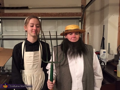We took advantage of our opportunity, Amish Couple Costume